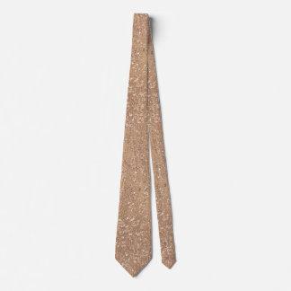 Gebürstetes Rosen-Gold Personalisierte Krawatten
