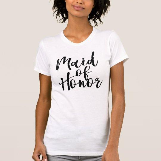 Gebürstetes Trauzeugin-Shirt in der T-Shirt