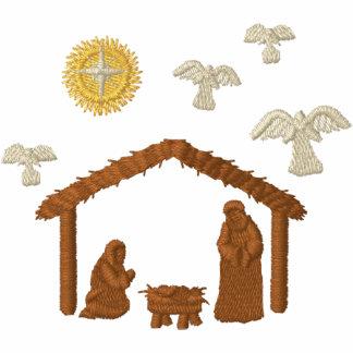 Geburt Christi Besticktes Kapuzenpulli
