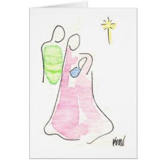 Geburt Christi, Tinte und WC auf onionskin Karte