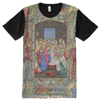 Geburt Christi unseres Lords T-Shirt Mit Komplett Bedruckbarer Vorderseite
