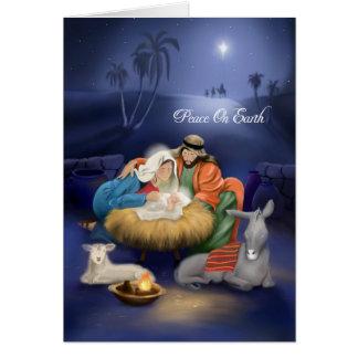 Geburt der Jesus-Weihnachtskarte Karte