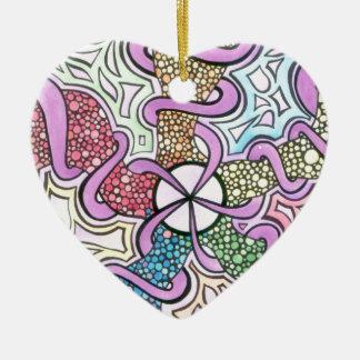 Geburt eines Sternes Keramik Herz-Ornament