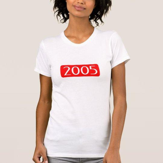 Geburt Jahrtext-Geburtstagszahl 2005 T-Shirt