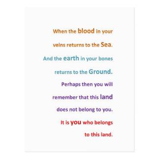 GEBÜRTIGE geistige Klugheit - Sie gehören dem LAND Postkarte