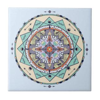 Gebürtige Symbolemandala-Keramik-Fliese Fliese
