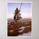 Gebürtiger Ureinwohner-Vintages Kunst-Plakat