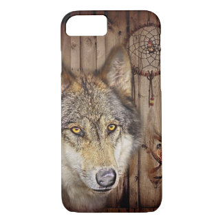 Gebürtiger Ureinwohnerwolf des Westerntraumfängers iPhone 8/7 Hülle