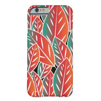 Gebürtiges rotes Flora-Blätter Barely There iPhone 6 Hülle
