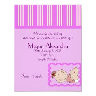 Geburts-Mitteilungs-Baby 10,8 X 14 Cm Einladungskarte