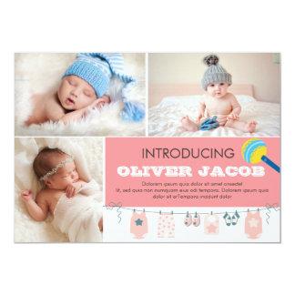 Geburts-Mitteilungs-Karten-Schablone Karte