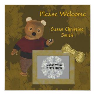 Geburts-Mitteilungs-neue Baby-Foto-Karten-niedlich Einladung