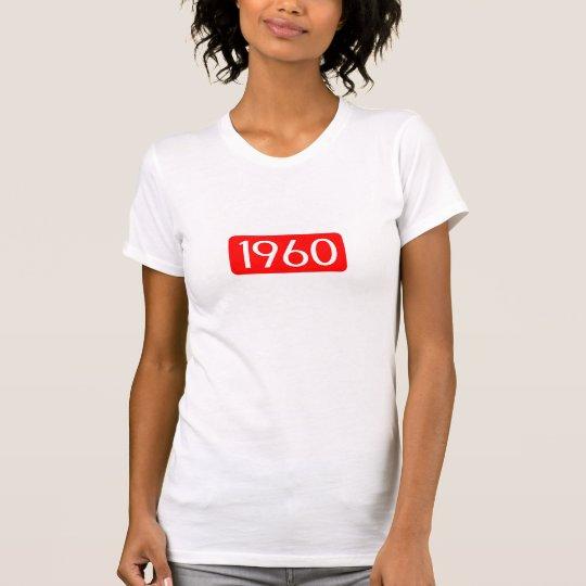Geburtsjahrtextgeburtstags-Zahlrot 1960 T-Shirt