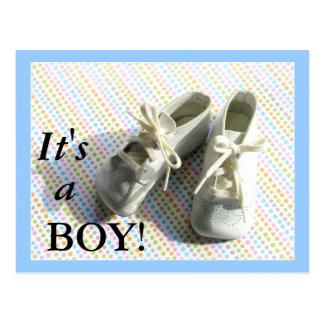 Geburtsmitteilung mit Vintagen Baby-Hintern Postkarte