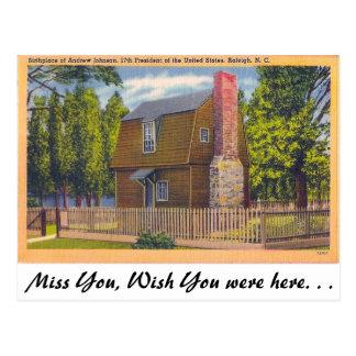 Geburtsort Andrew Johnson Postkarte