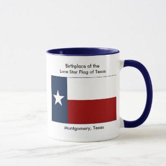 Geburtsort der einzigen Stern-Flagge von Texas Tasse
