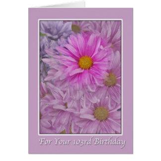 Geburtstag, 103., Gänseblümchen Karte
