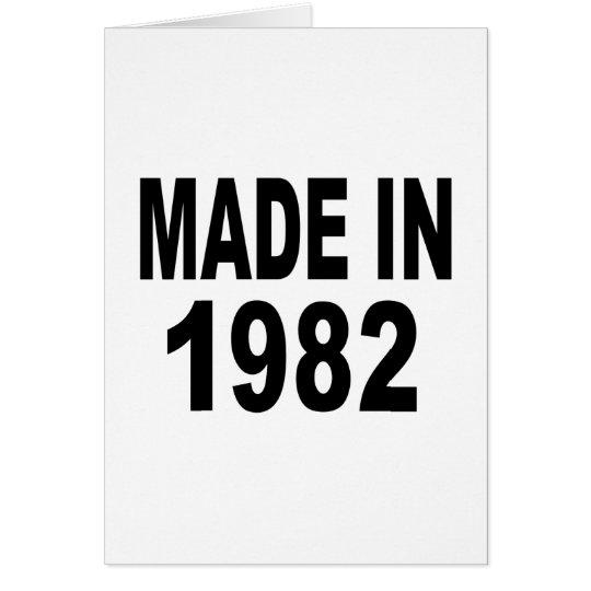 Geburtstag 1982 grußkarte