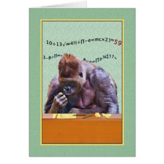Geburtstag, 59., Gorilla am Schreibtisch Karte