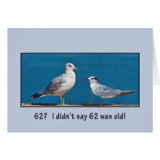 Geburtstag, 62., Möve und Seeschwalbe und Vögel Karte
