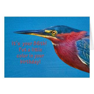 Geburtstag, 86. Grünreiher-Vogel Grußkarte