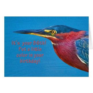 Geburtstag, 86. Grünreiher-Vogel Karte