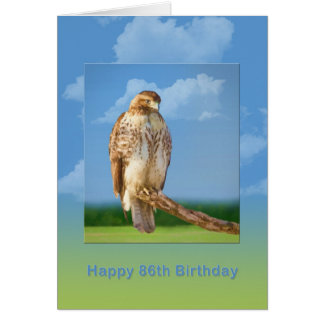 Geburtstag, 86., rauer mit Beinen versehener Falke Grußkarte