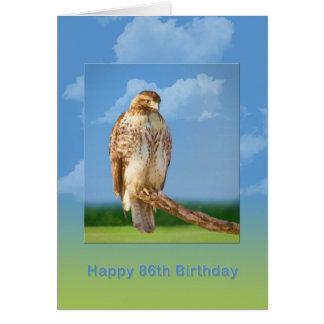 Geburtstag, 86., rauer mit Beinen versehener Falke Karte