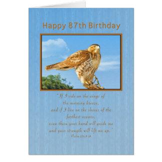 Geburtstag, 87., Rau-mit Beinen versehener Falke Karte