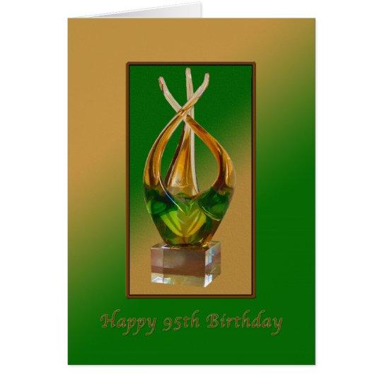 Geburtstag, 95., Glasskulptur Grußkarte