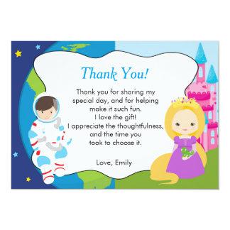 Geburtstag Astronauten-Prinzessin-Thank You Card 12,7 X 17,8 Cm Einladungskarte