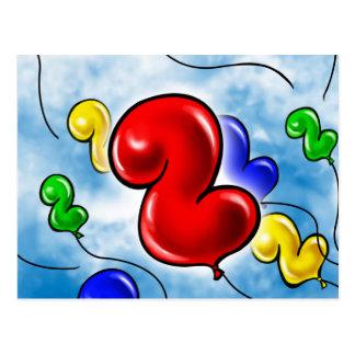 Geburtstag Balloon.jpg der Nr.-2 Postkarte