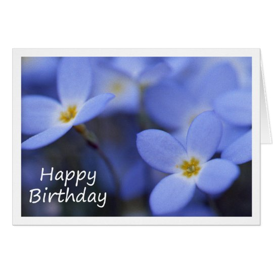 Geburtstag - Bluettes Gruß-Karte Karte
