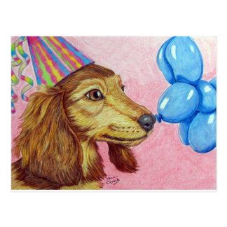 Geburtstag Daschund Postkarte