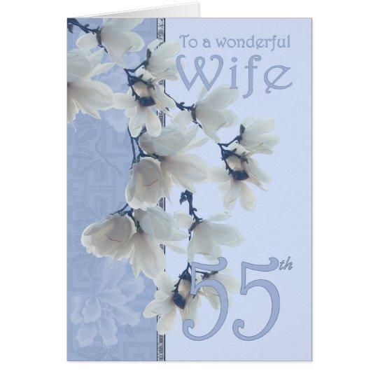 Geburtstag der Ehefrau-55 - Karte