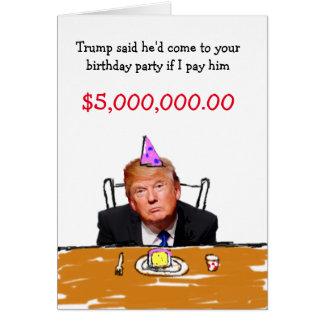 Geburtstag des Trumpf-$5.000.000 Grußkarte