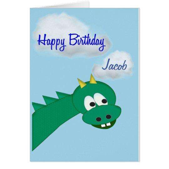 Geburtstag-Drache, individueller Name Karte