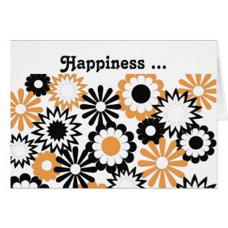 Geburtstag für der Orange, weißer u. Schwarzer die Grußkarte