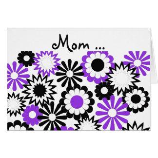 Geburtstag für die Mamma-, Lila, weiße u. Grußkarte