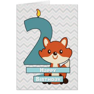 Geburtstag für ein Kind, das zwei Jahre alt dreht Grußkarte