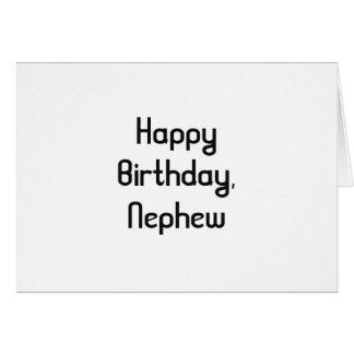 Geburtstag für einen Neffeen, gotische Schriften Grußkarte