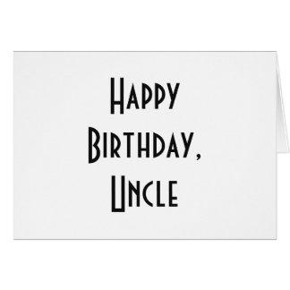 Geburtstag für einen Onkel, gotische Schriften auf Grußkarte