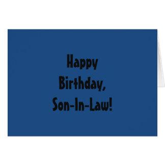 Geburtstag für einen Schwiegersohn, gotische Grußkarte