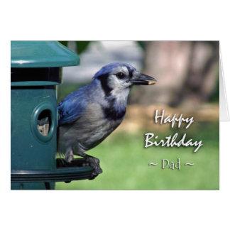 Geburtstag für Vati, blaues Jay an der Grußkarte