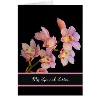 Geburtstag Karte-Meine spezielle Schwester Karte