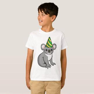 Geburtstag-Koala-Party-Hut, der das Shirt der