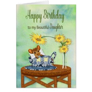 Geburtstag - MEINE Tochter - Maus beim Karte