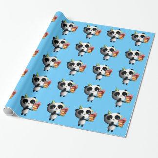 Geburtstag-Panda mit Kuchen Geschenkpapierrolle