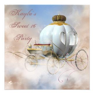 Geburtstag Prinzessin-Carriage Prinzessin Sweet 16 Einladung