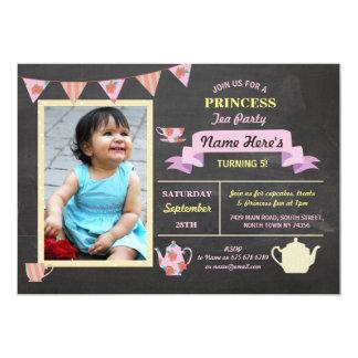 Geburtstag Prinzessin-Tea Party Chalk Pink laden Karte